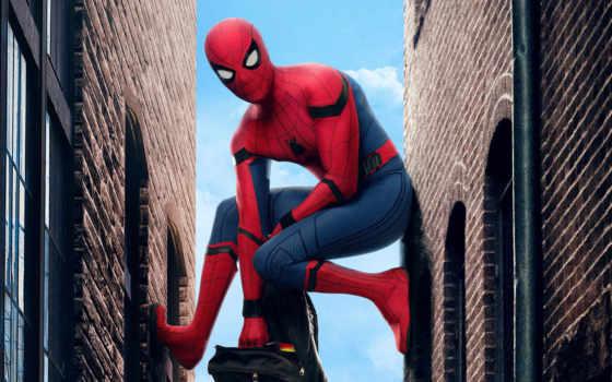 паук, мужчина, фильма, домой, return, promo, черная, panther, материалы,