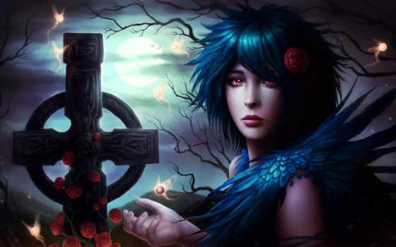 gothic, девушка, fantasy