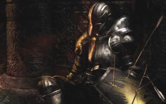 рыцарь, доспех, souls, desktop, dark, preview, меч,