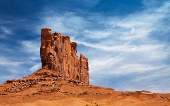 пустыня, rock, небо, каньон, arizona, сша, долина, трещина, разлом,
