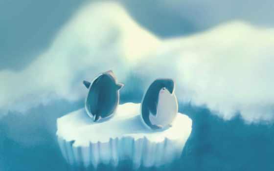 льдина, рисунок, пингвины, пингвин, автор, остров, vincent,