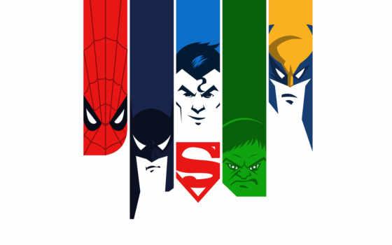 superheroes, фотоколлаж, плакат