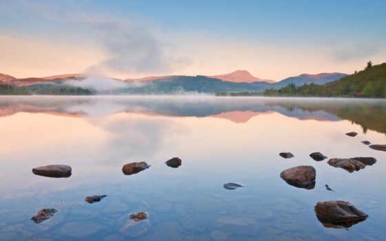 озеро, шотландия, scotia, нота, природа, горы, картинка, версия,
