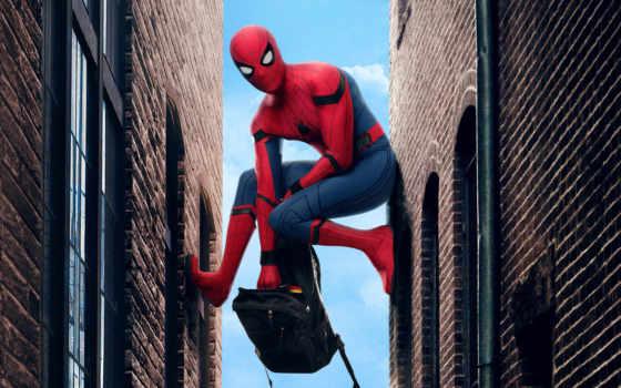 паук, мужчина, return, домой, фильма, promo, плакат,
