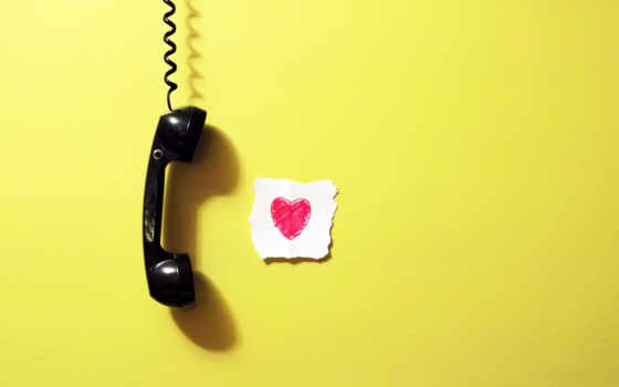 телефонная, трубка, стена, сердце, бумажка,