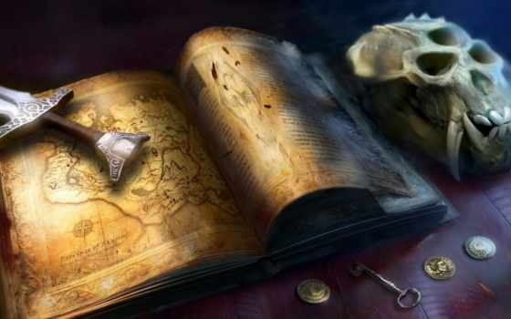 книга, карта