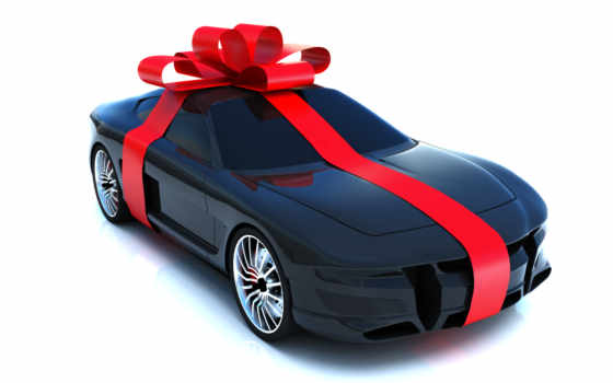car, gift, wrapped, with, bow, download, photo,