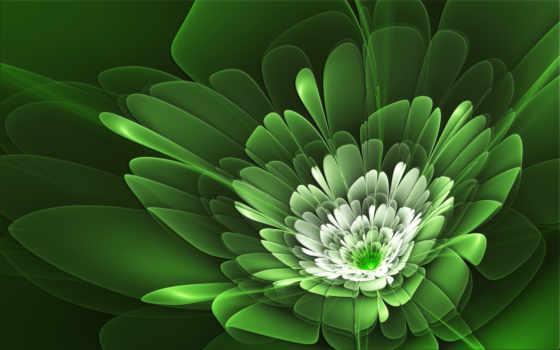 zielony, абстракция, verde