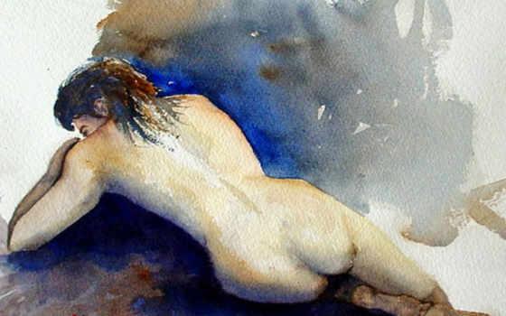 watercolor, animals, живопись