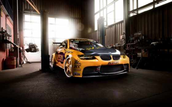 bmw, гараж, тюнинг, desktop, авто, car, суперкар, yellow,