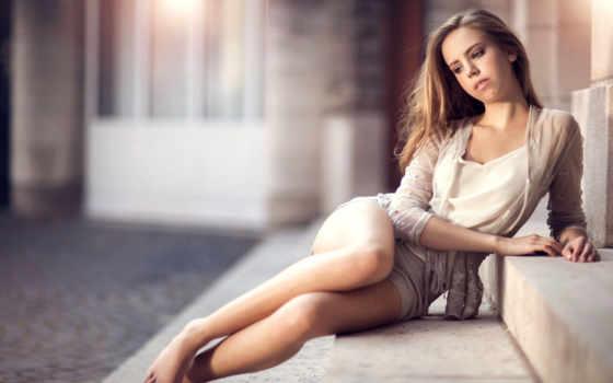 девушка, сидит, ножки, волосы, ступеньки, ступеньках, поза, лестница, романтика, длинные,
