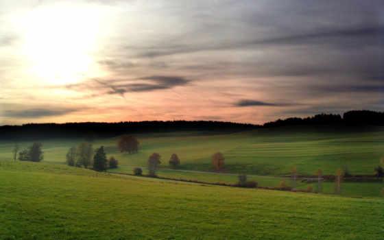 германии, german, landscapes, landscape, поле, трава, небо, германия, лес,