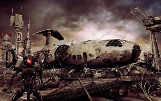 робот, свалка, корабль, леонов, роботы, image, железо, остатки, самолета, music, souetre, yann, remain, космический, silent, смотрите,