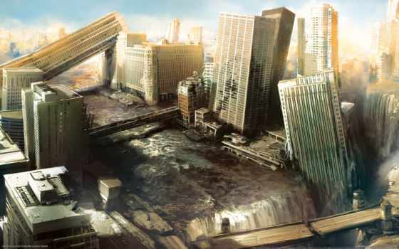 город, разрушения
