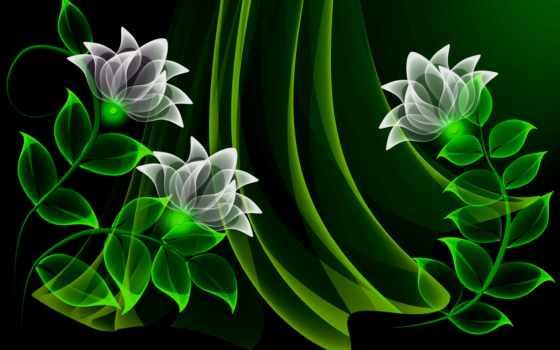цветы, неоновые, фоны