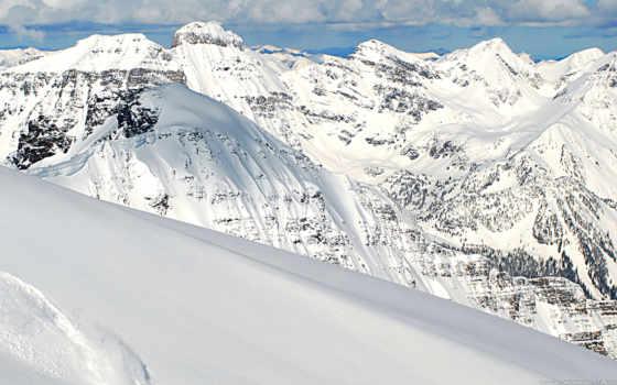 heli, ski, горы