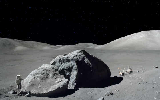 let, части, луне