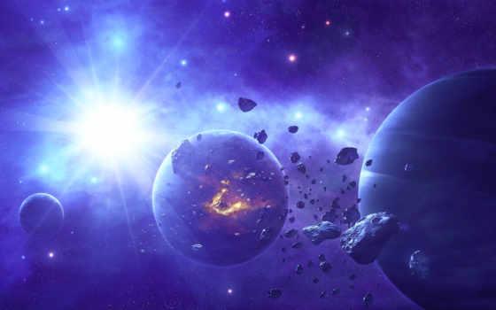zvezda, яркая, астероиды, звезды, art, планеты,