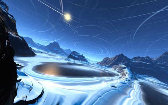 лед, холод, озеро