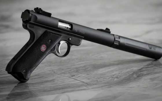 пистолет, ruger, оружие, guns, bullets, iii,