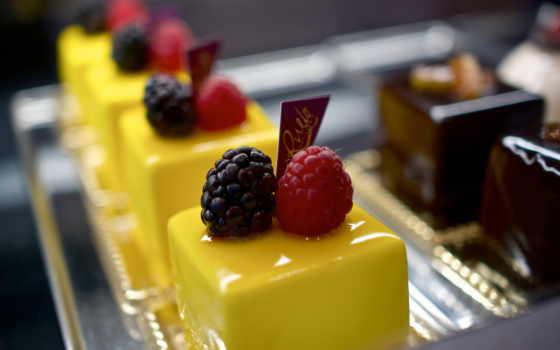 глазурь, пирожные, малина, разные, десерт, конфет, many, разноцветные,