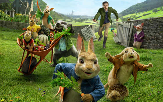 peter, кролик, сниматься, enough, фермеру, приключениях, маленького, непоседливого, крольчонка, имени, корден,