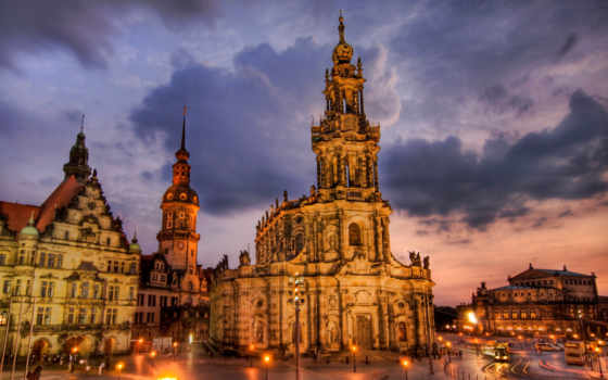 dresden, photos, Дрезден,ночной город,огни,