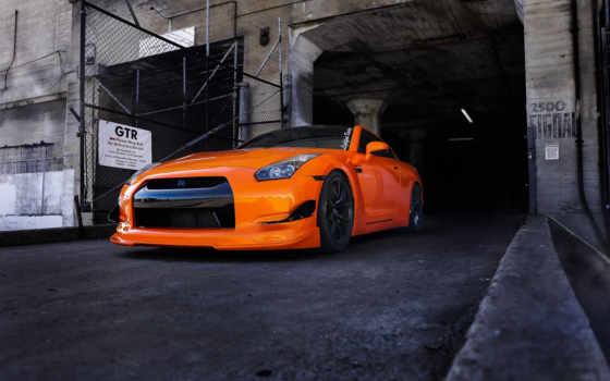 nissan, оранжевый