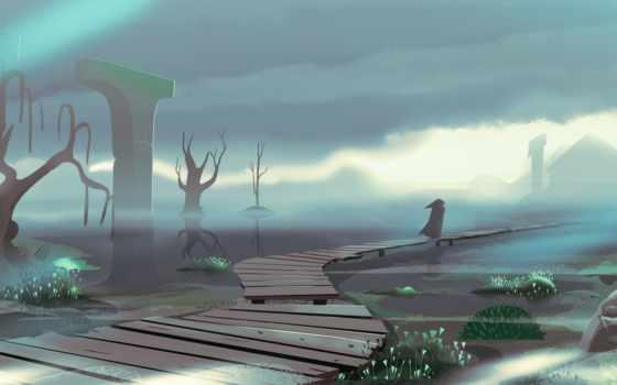 landscape, значок, drawn