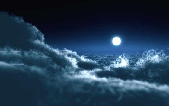 природа, луна, небо