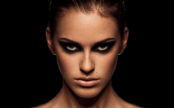 девушка, красивые, лицо, лица, взгляд, черты, губы, макияж, тени, красивая, женский,