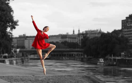 балерина, dance, девушка, чёрно,