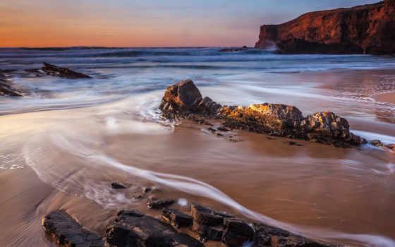 ocean, пляж, город, море, пейзажи -, fone, природа, high,