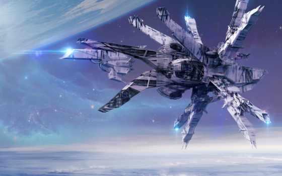 прощание, горизонт, spaceship, cosmos, цена, девушка, fantasy, col, scus