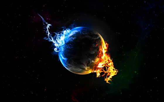 планета, огонь Фон № 1986 разрешение 2560x1600