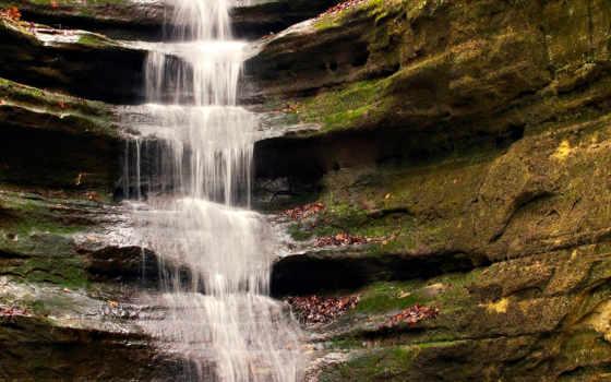 waterfall, водопад