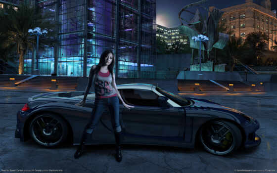 need, speed, carbon, girl, car, download,