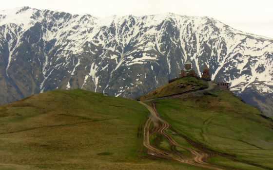 georgia, горы, church, грузии, фотографии,