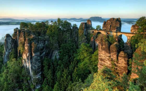 online, фильмы, фотообои, мост, рейтинг, швейцария, trees, туман, горы, велотур, небоскребы,