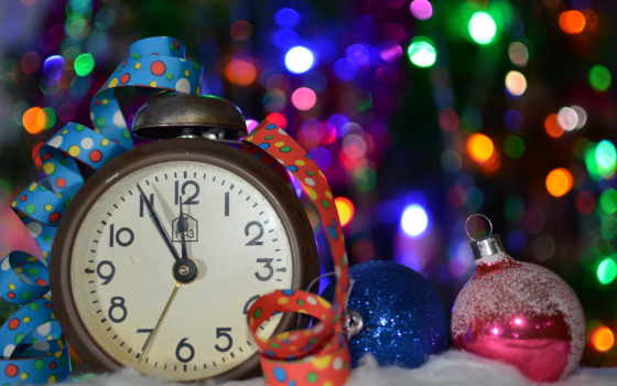new, год, праздник, игрушки, часы, christmas, снег, елка, января,
