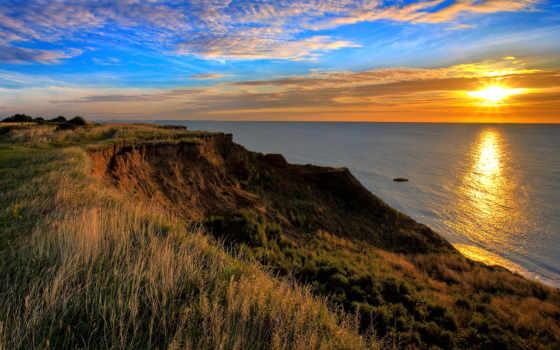 лучших, природа, качественные, красивые, sun, закатов, море, подборке,