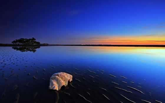 закат, красивые, природа