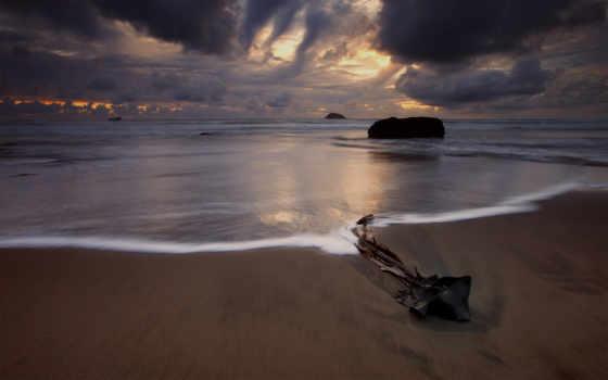 море, пляж, берег, ночное, главная,
