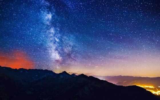 путь, млечный, небо, touch, ipod, горы, природа, church, apple,