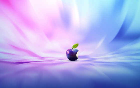 apple, logo, purple, abstract