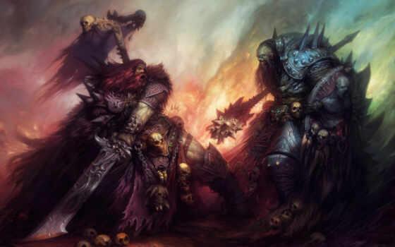 war, pit, воины, черепа, битва, накидка, доспехи, дубина,