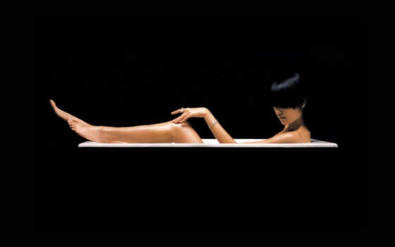 девушка, ванн, девушки