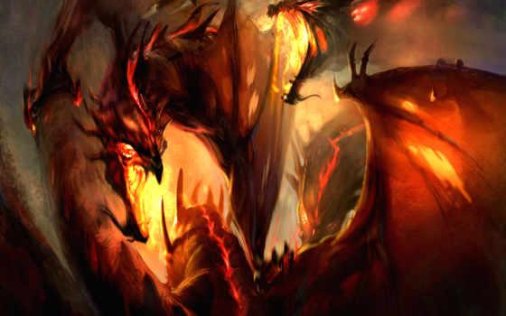 fantasy, драконы, телефон