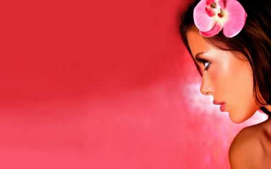 девушка, розовом, fone, назад, devushki, нояб, лицо, милые, красивая,