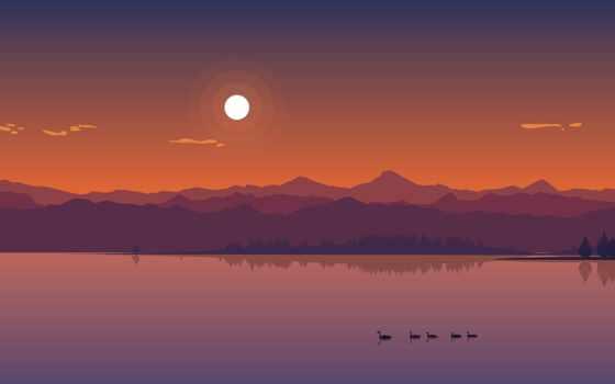 закат, minimalist, minimal, озеро, awesome, favorite, фото, ton, также, upload, binary